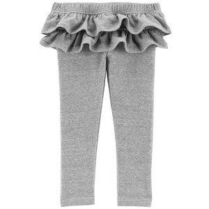 Carter's Light Grey Ruffle Skirt Leggings